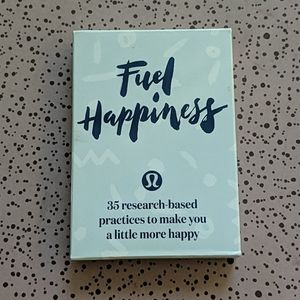 (not for sale) Lululemon fuel happiness card set